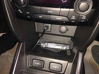 Установленный carplay box